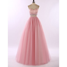2017 New Style One Shoulder Floor Length Two-Piece Prom/ Party Dresses