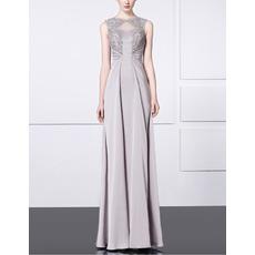 2017 New Style Sheath Sleeveless Floor Length Satin Evening Dresses