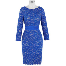 Elegant Vintage Knee Length Lace Mother of The Bride Dresses with Long Sleeves