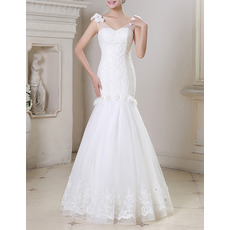 Top New Style Mermaid V-Neck Floor Length Beading Wedding Dresses