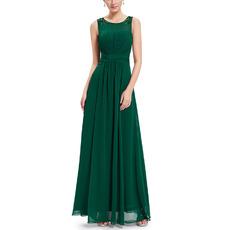 2018 New Style Sleeveless Floor Length Chiffon Evening/ Prom Dresses
