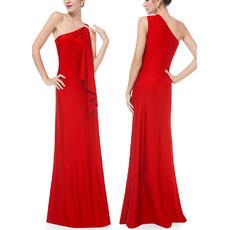 2017 New Style One Shoulder Floor Length Satin Evening Dresses