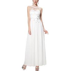 Custom Sleeveless Floor Length Chiffon Evening/ Prom Dresses