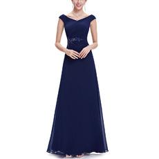 2018 New Style V-Neck Floor Length Chiffon Evening/ Prom Dresses