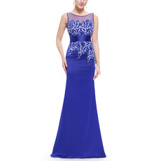 Custom Designer Sheath Sleeveless Floor Length Satin Evening/ Prom Dresses