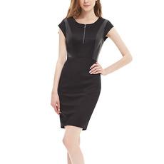 Custom Column Short Sleeves Mini Homecoming/ Little Black Dresses