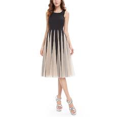2017 Style A-Line Knee Length Tulle Insert Skirt Homecoming Dresses