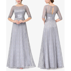 Discount Long Length Half Sleeves Lace Mother of the Bride Dresses with Keyhole Back