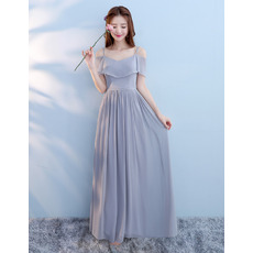 2018 New Spaghetti Straps Floor Length Chiffon Bridesmaid Dresses