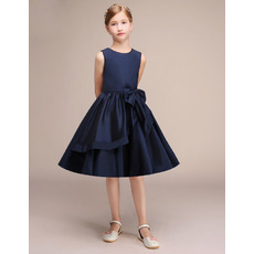 2019 New Style A-Line Knee Length Satin Junior Bridesmaid Dresses