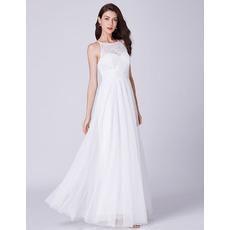 Feminine Illusion Sweetheart Neckline White Chiffon Evening Party Dresses