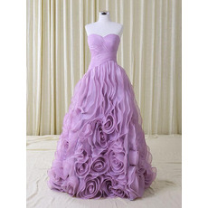 Glamorous Ball Gown Sweetheart Organza Evening Dresses with Breathtaking Layered Skirt