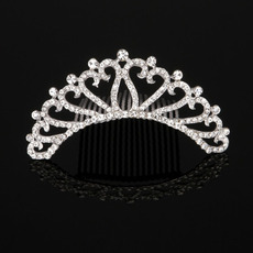 Stylish New Design Crystal First Communion Flower Girl Tiara Comb