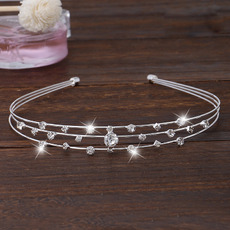 Stylish Sparkling Crystal Silver First Communion Flower Girl Tiara/ Wedding Headpiece