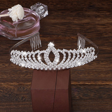 Amazing Sparkly Crystal Silver First Communion Flower Girl Tiara/ Wedding Headpiece