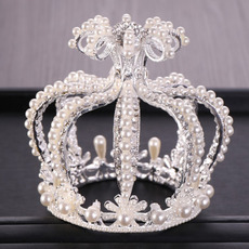 Luxurious Pearl and Crystal First Communion Flower Girl Tiara/ Wedding Headpiece/ Princess Crown