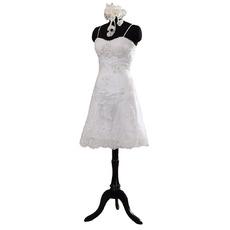 Perfect Beaded Appliques Spaghetti-strap Knee-length Wedding Dresses