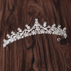 Beautiful Alloy With Crystal Embellished Wedding Tiara