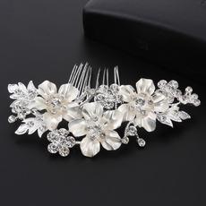 Beautiful Floral Crystal Bridal Tiara/ Princess Bride Crown/ Bridal Headpiece
