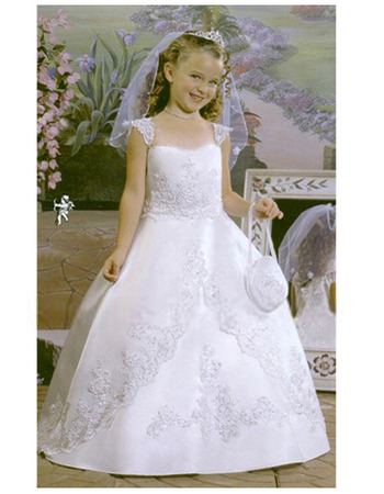 discount empire ball gown first communion dresses lovely full length cap sleeves lace flower girl