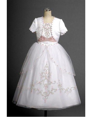 Ball Gown Floor Length Plus Size Two Tone First Communion ...