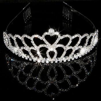 Luxious Alloy With Rhinestone Bridal Wedding Tiara