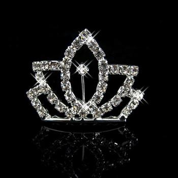 Inexpensive Alloy With Rhinestone Bridal Wedding Tiara