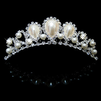 Fahionable Alloy With Pearl Bridal Wedding Tiara