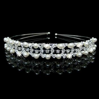 Popular Alloy With Pearl Bridal Wedding Tiara