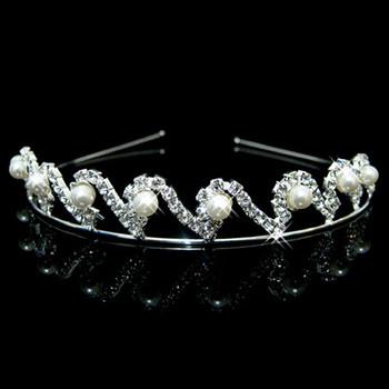Hot sale Alloy With Pearl Bridal Wedding Tiara
