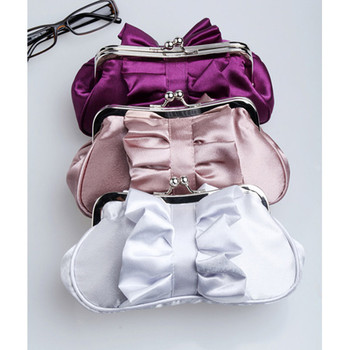 Cheap Satin Evening Handbags/ Clutches/ Purses with Bowknot