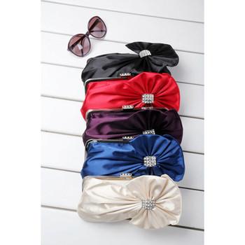 Sexy Satin Evening Handbags/ Clutches/ Purses with Rhinestone
