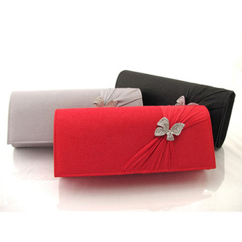 Summer Satin Evening Handbags/ Clutches/ Purses with Rhinestone ...