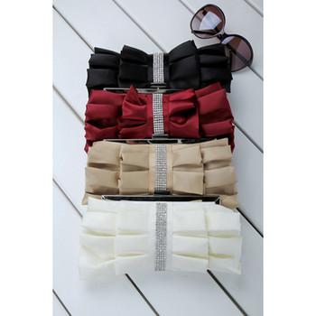 Pretty Satin Evening Handbags/ Clutches/ Purses with Rhinestone