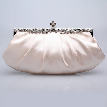 Budget Satin Evening Handbags/ Clutches/ Purses with Rhinestone