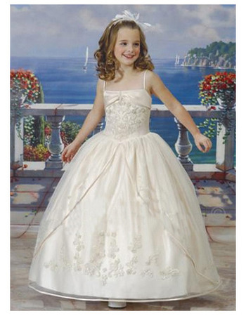 Pretty Princess Ball Gown Spaghetti Straps Lace Ankle Length