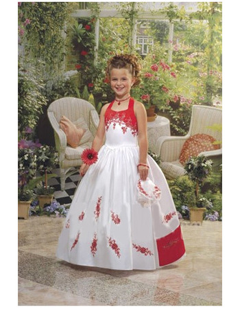 Amazing Luxury Beaded Appliques Ball Gown Colored Layered First Communion Dresses for Girls/ Flower Girl Dresses