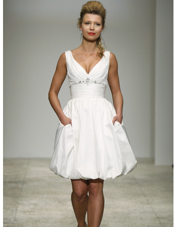 a line v neck simple white dress