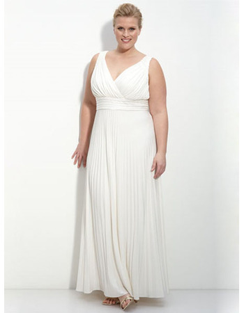 Charming custom sheath plus size v neck ankle length for Plus size sheath wedding dress