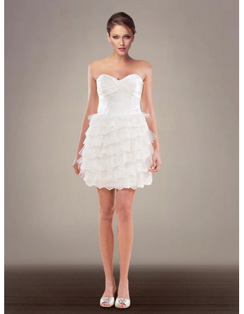Romantic Stylish A-Line Sweetheart Tiered Reception Garden Wedding Dresses