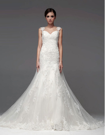 Winter A-Line Sweetheart/Straps Floor Length Satin Organza Wedding Dresses with Straps