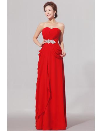 Fabulous Sweetheart Floor Length Chiffon Sheath Bridesmaid Dresses for Wedding Party