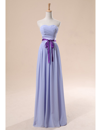 Elegant Sheath/ Column Sweetheart Knee/ Floor Length Chiffon Bridesmaid Dresses for Summer Wedding