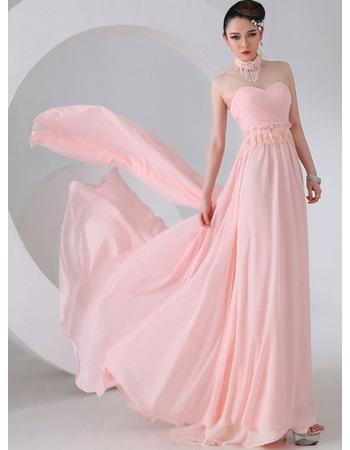 Beautiful Sheath Sweetheart Chiffon Floor Length Empire Evening/ Prom Dresses