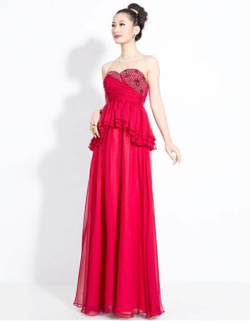 Amazing Chiffon Sweetheart Column Floor Length Evening Dresses