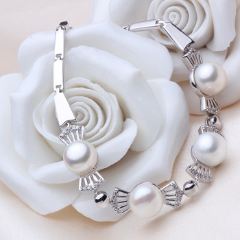Elegant Multicolor 6.5 - 8.5mm Freshwater Off-Round Bridal Pearl Bracelet