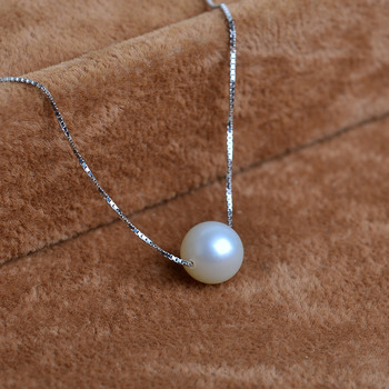 Discount White/ Pink 8.5 - 9mm Round Freshwater Natural Pearl Pendants