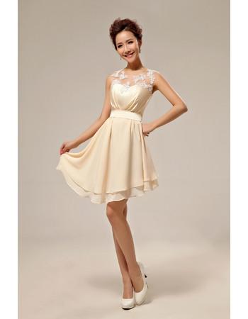 Affordble Asymmetric Chiffon Organza A-Line Short Gorgeous Beach Wedding Dresses