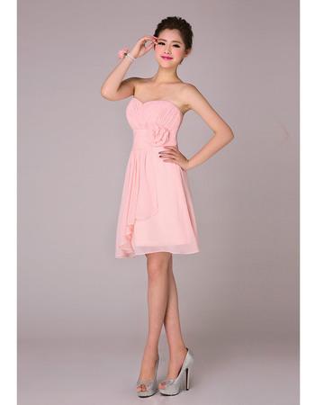 Sweety A-Line Sweetheart Short Chiffon Bridesmaid Dresses