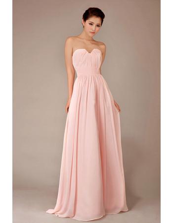 Classy Chiffon Sweetheart Floor Length A-Line Bridesmaid Dresses